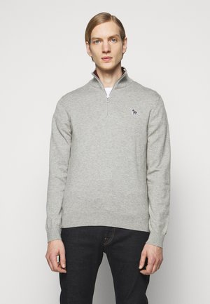 MENS ZIP NECK ZEBRA - Trui - grey