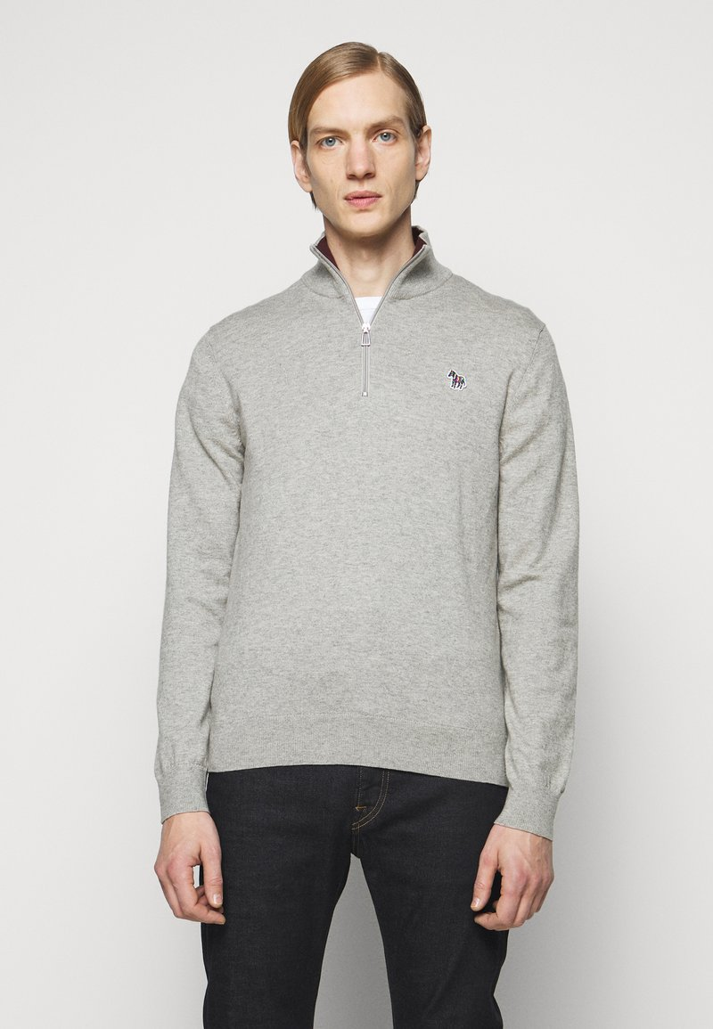 PS Paul Smith - MENS ZIP NECK ZEBRA - Jumper - grey