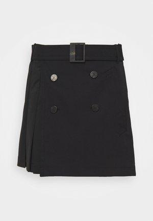 HYBRID PLEATED MINI SKIRT - Minijupe - black