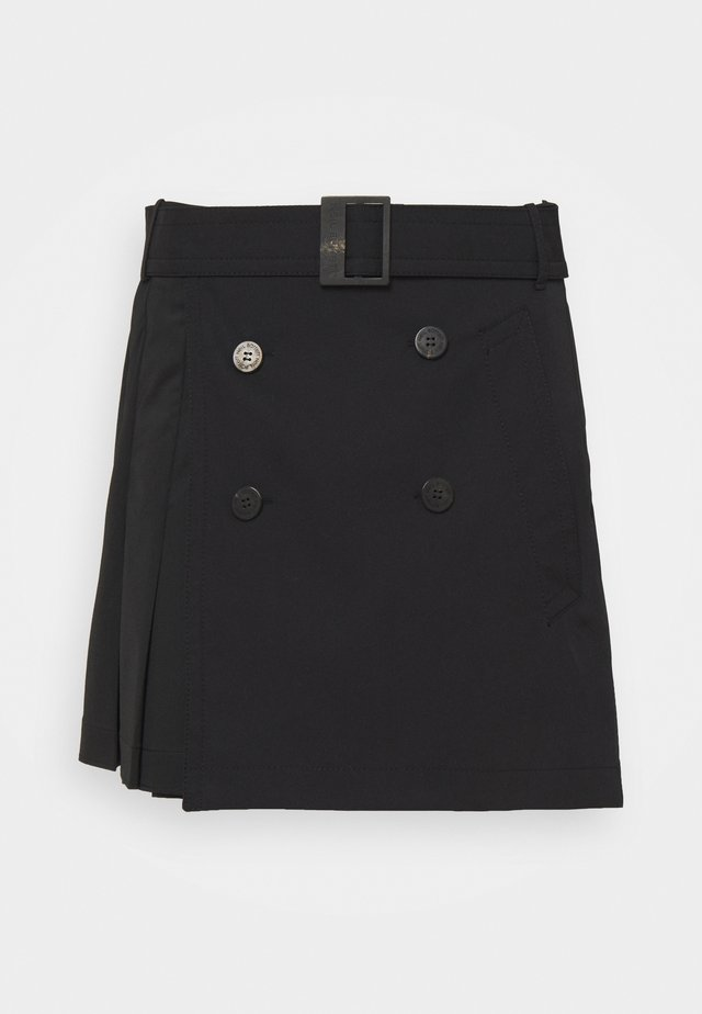 HYBRID PLEATED MINI SKIRT - Minigonna - black