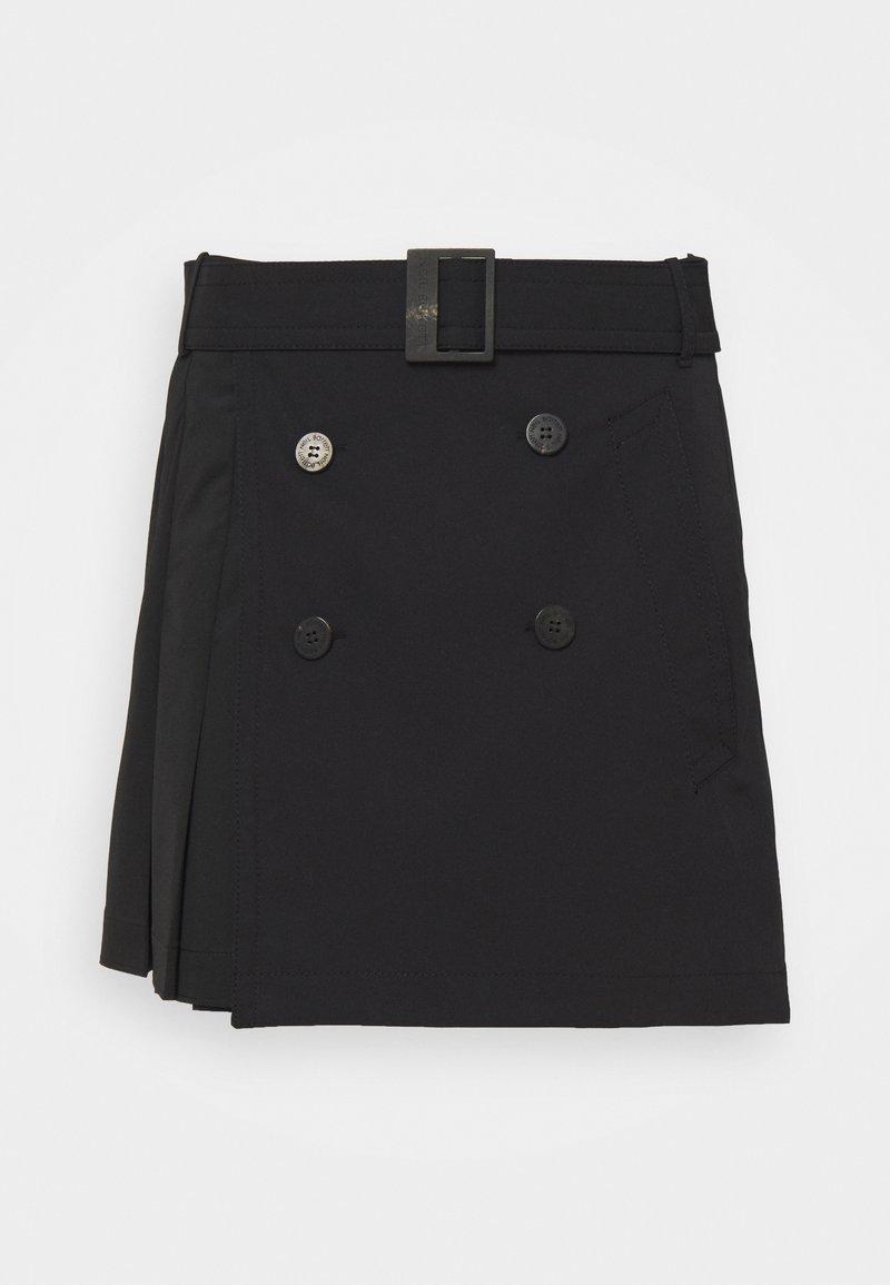 Neil Barrett - HYBRID PLEATED MINI SKIRT - Mini skirt - black