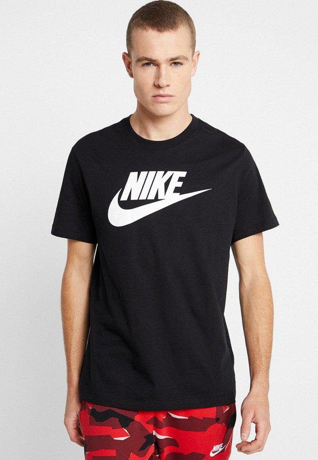 TEE ICON FUTURA - Print T-shirt - black/white