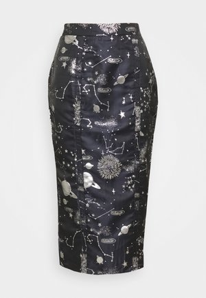 COSTELLO ASTRO MIDI SKIRT - Gonna a tubino - navy