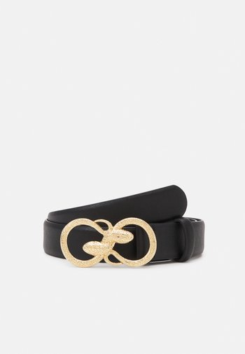 PCKIVA JEANS BELT - Belt - black/gold