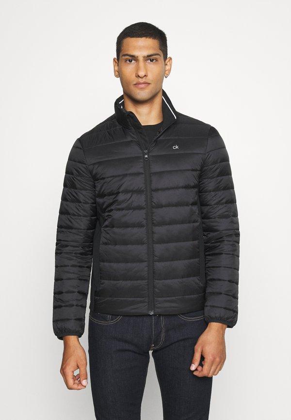 Calvin Klein LIGHT WEIGHT SIDE LOGO JACKET - Kurtka przejściowa - black/czarny Odzież Męska LJXR
