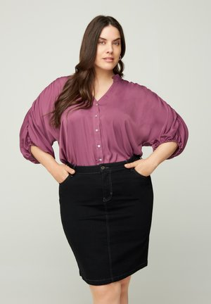 Button-down blouse - light purple