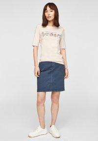 s.Oliver - Print T-shirt - light blush power print - 1