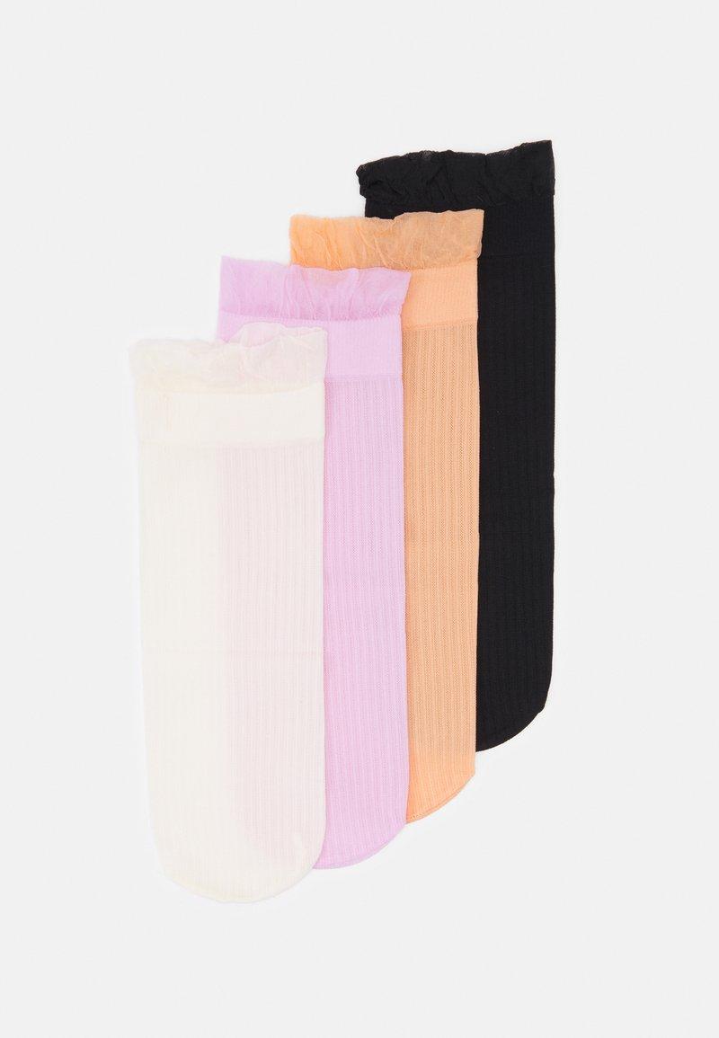 Vero Moda - VMMIRA SOCKS 4 PACK - Socks - snow white/mixed