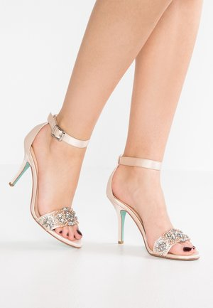 GINA - Sandalen met hoge hak - champagne