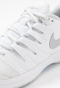Nike Performance - AIR ZOOM PRESTIGE CARPET - Carpet court tennis shoes - white/metallic silver/pure platinum/aluminum - 5