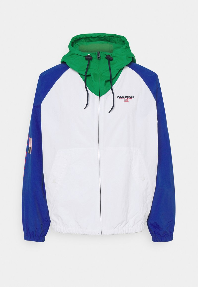 Polo Ralph Lauren - FREESTYLE V BUCKET WINDBREAKER - Summer jacket - pure white/multi