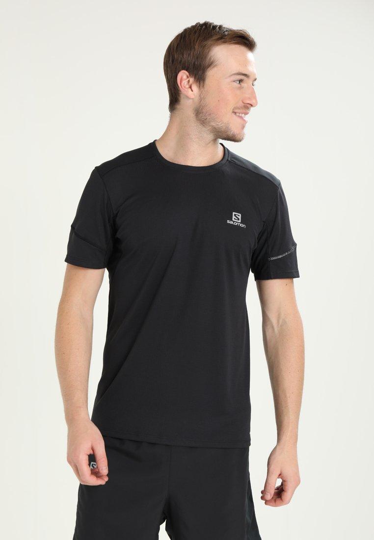 Salomon - AGILE TEE - Jednoduché triko - black