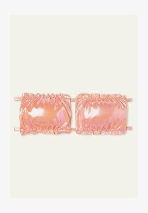 MIT RAFFUNG GLOSSY - Bikini top - rosa nude