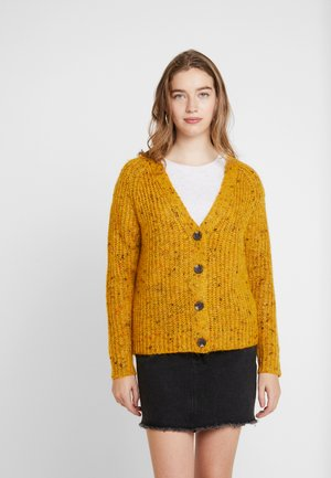ONLHANNI BUTTON V-NECK CARDIGAN - Cardigan - golden yellow/multicolor naps