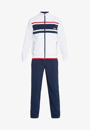 SUIT THEO - Tracksuit - white/peacoat blue/red