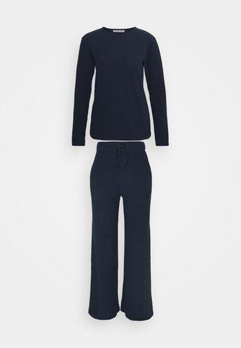 Cosy rib wide leg set - Pyjamas - dark blue