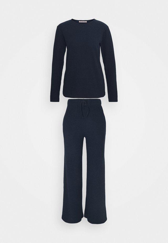 RIB SLOUCH  SET - Pyjama - dark blue