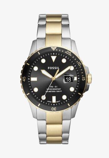 FB - 01 - Digital watch - gold,silver