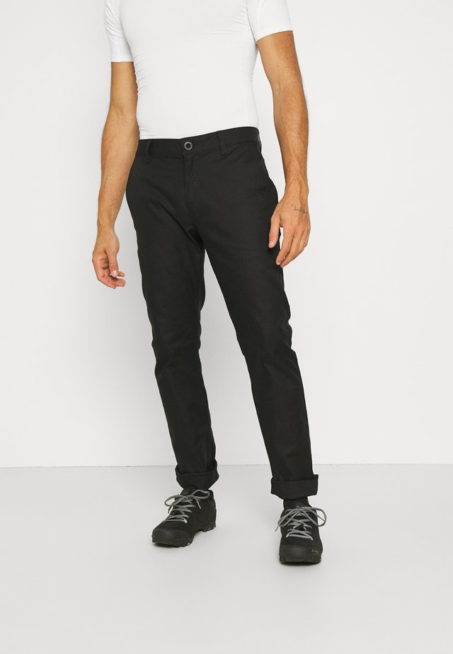 ESSEX STRETCH SLIM PANT - Stoffhose - black