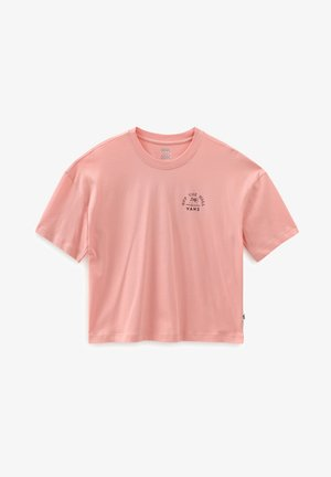 WM RETRO RETIREMENT SS TEE - Print T-shirt - coral almond