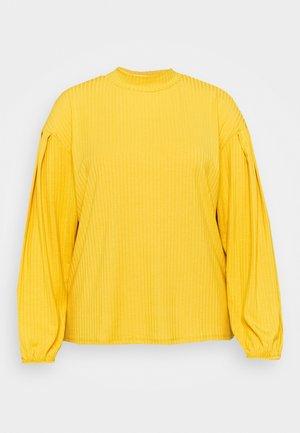 HIGH NECK PUFF  - Long sleeved top - mustard