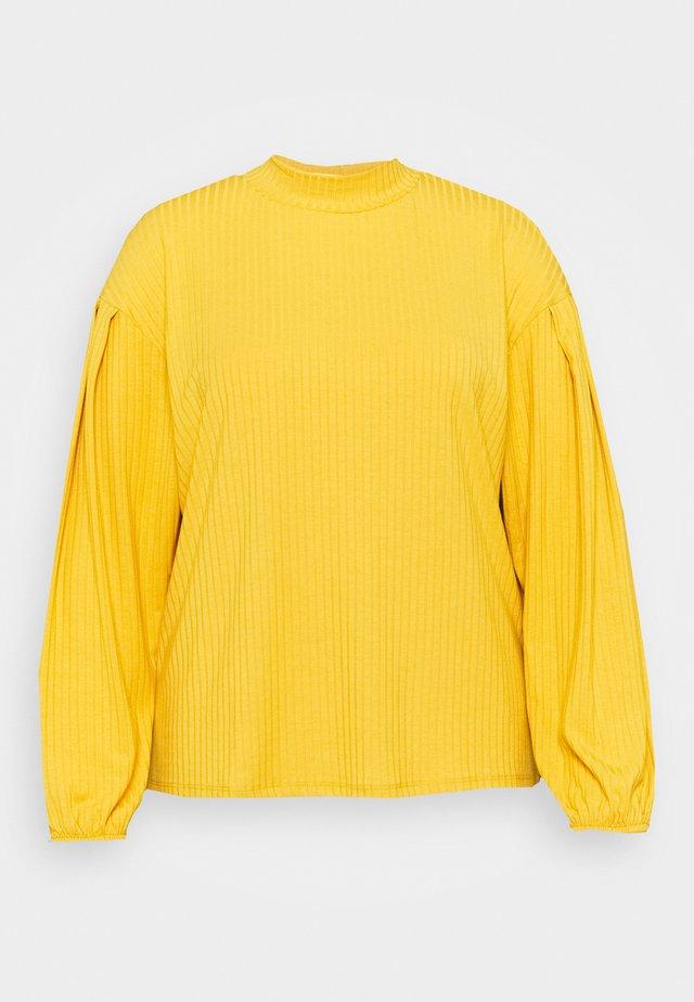 HIGH NECK PUFF  - Pitkähihainen paita - mustard
