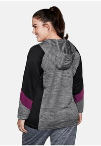 Sheego - Zip-up hoodie - heather gray - 2