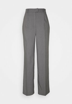 FRONT PLEAT SUIT PANTS - Bukse - black