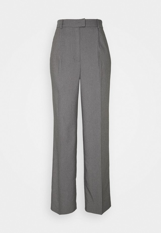 FRONT PLEAT SUIT PANTS - Bukser - black