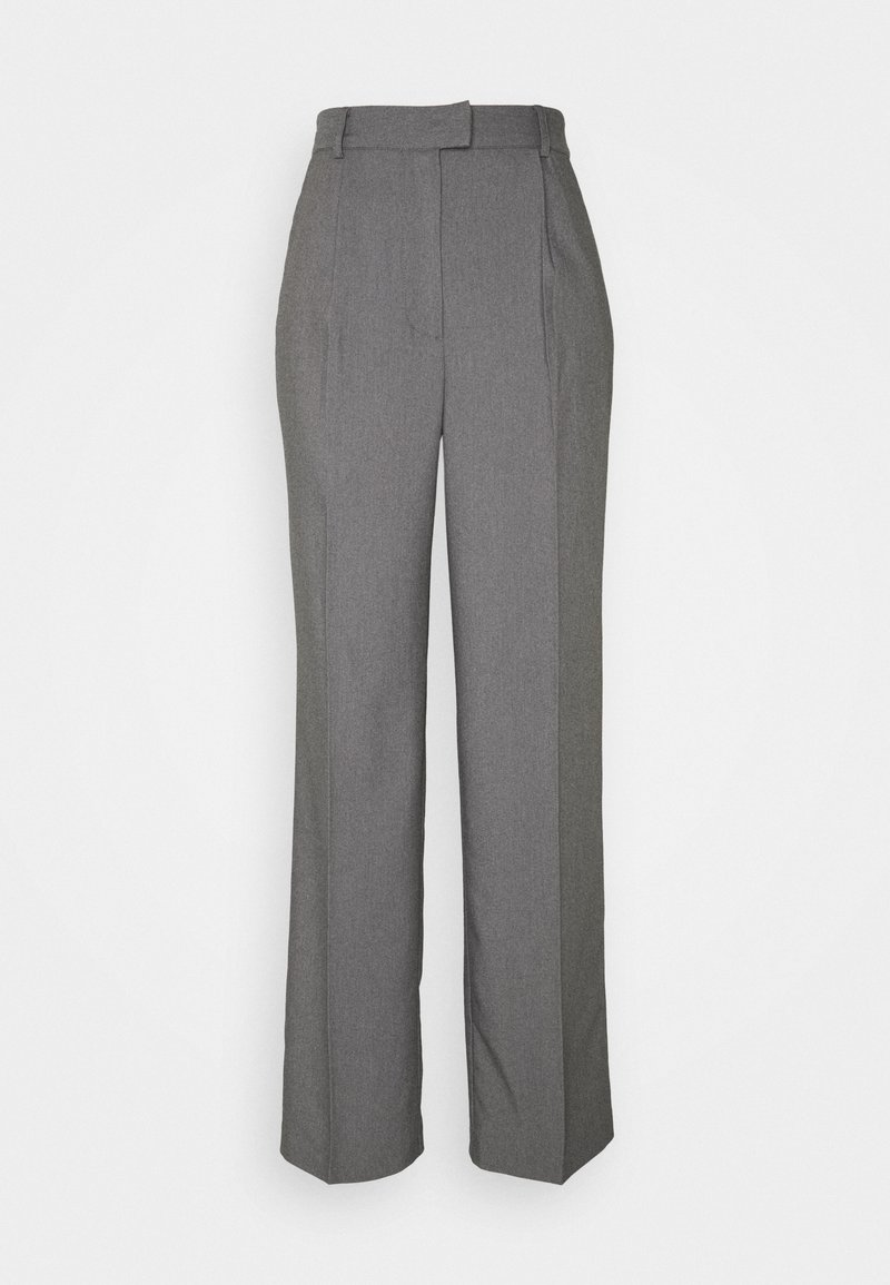 NA-KD - FRONT PLEAT SUIT PANTS - Bukser - black