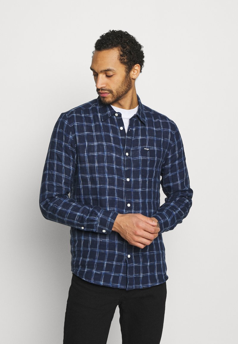 Wrangler - LS 1 PKT SHIRT - Skjorta - limoges blue