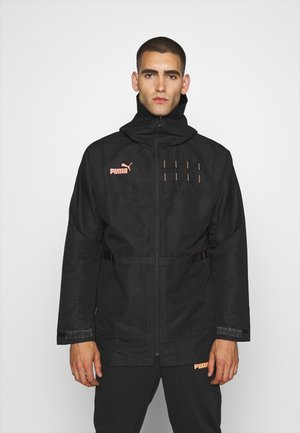 FTBLNXT CASUALS PARKA - Training jacket - black/fizzy orange