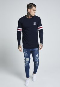 SIKSILK - TOURNAMENT LONG SLEEVE - Bluzka z długim rękawem - navy - 1