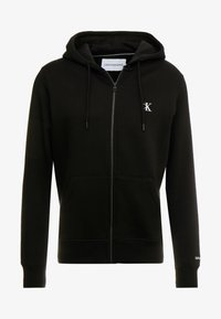 Calvin Klein Jeans - ESSENTIAL ZIP THROUGH - Felpa aperta - black - 4