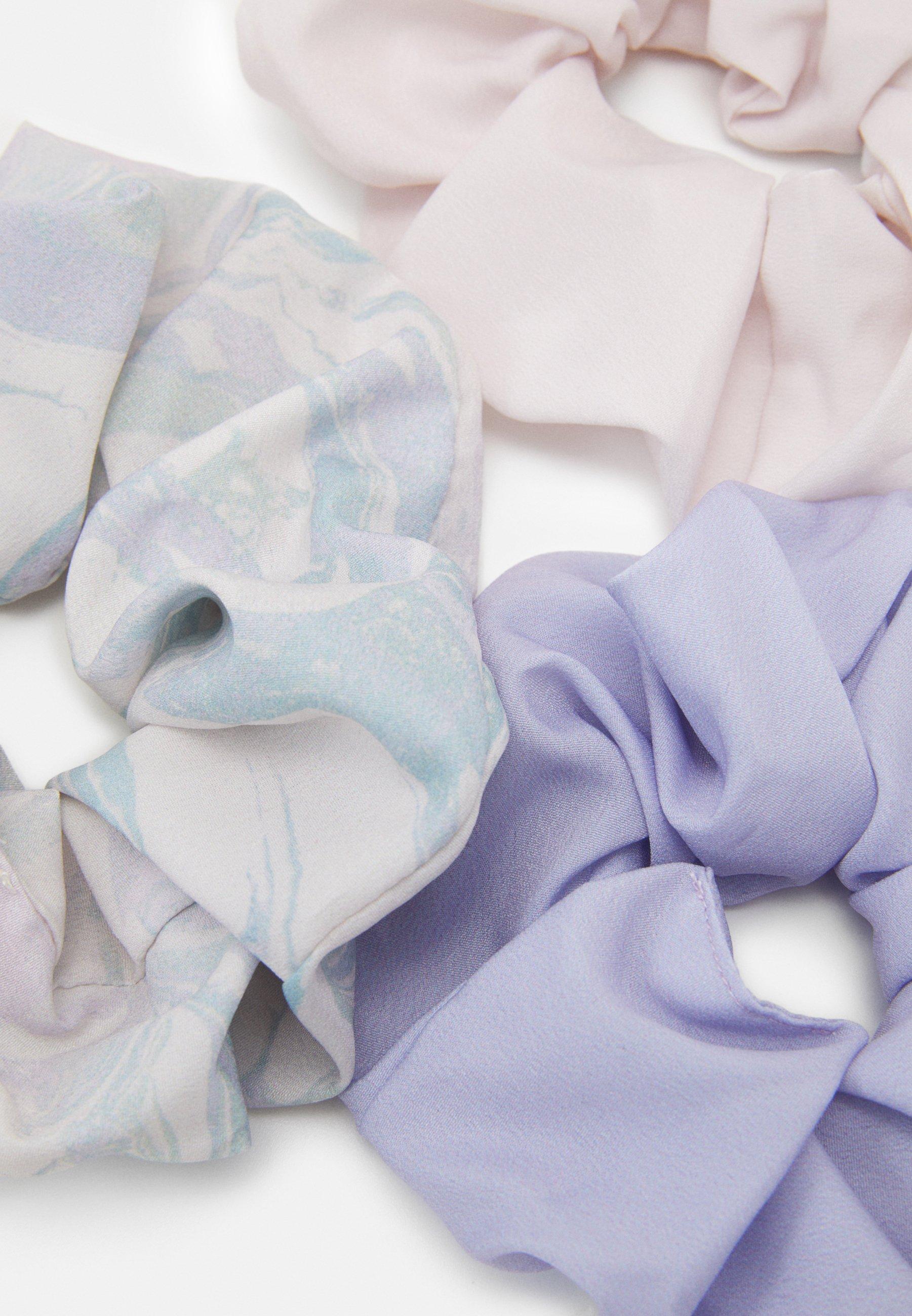 Weekday SCRUNCHIE 3 PACK - Hair Styling Accessory - purple marble/svart 34p8WXkOUUzUUDo