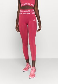 adidas Performance - AEROKNIT 7/8 T TRAINING WORKOUT DESIGNED4TRAINING PRIMEGREEN LEGGINGS FITTED - Tights - berry - 0