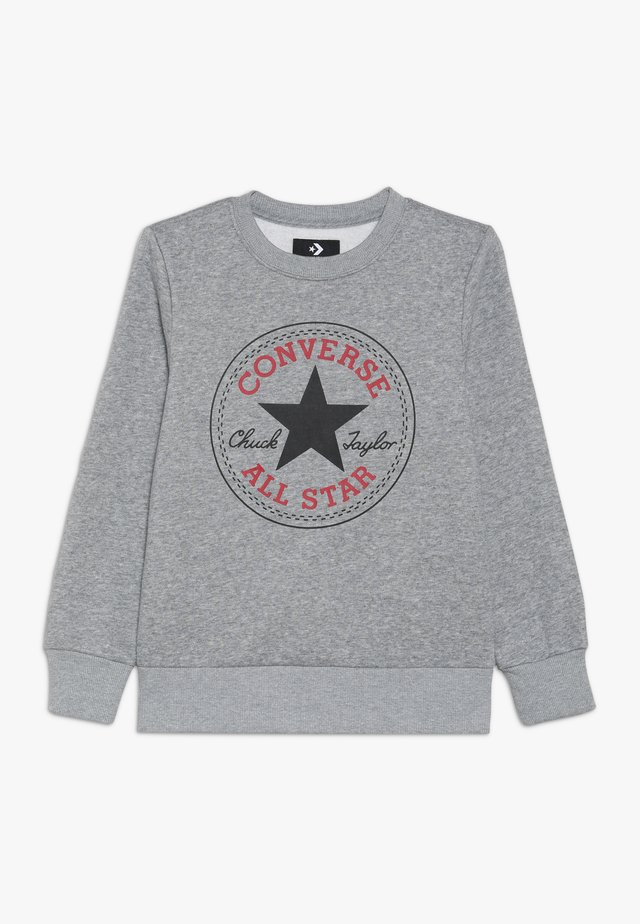 CHUCK PATCH CREW - Collegepaita - dark grey heather