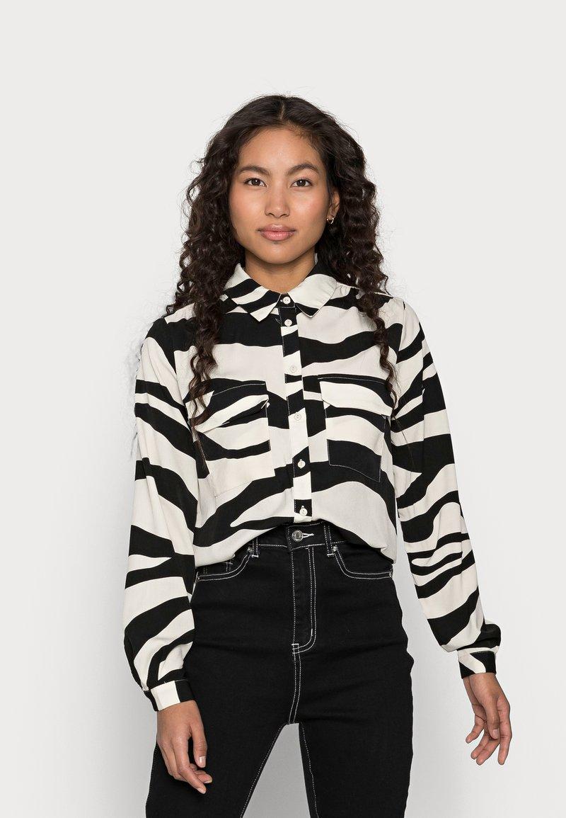 VILA PETITE - VIOMINA - Button-down blouse - black