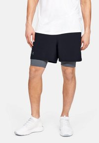 Under Armour - 2-IN-1 - Sports shorts - off-white/grey - 1