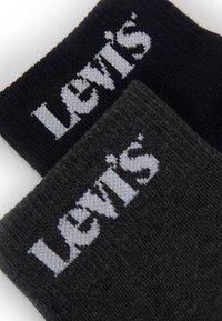 Levi's® - NEW LOGO MID CUT 2 PACK - Socks - black/antracite - 1