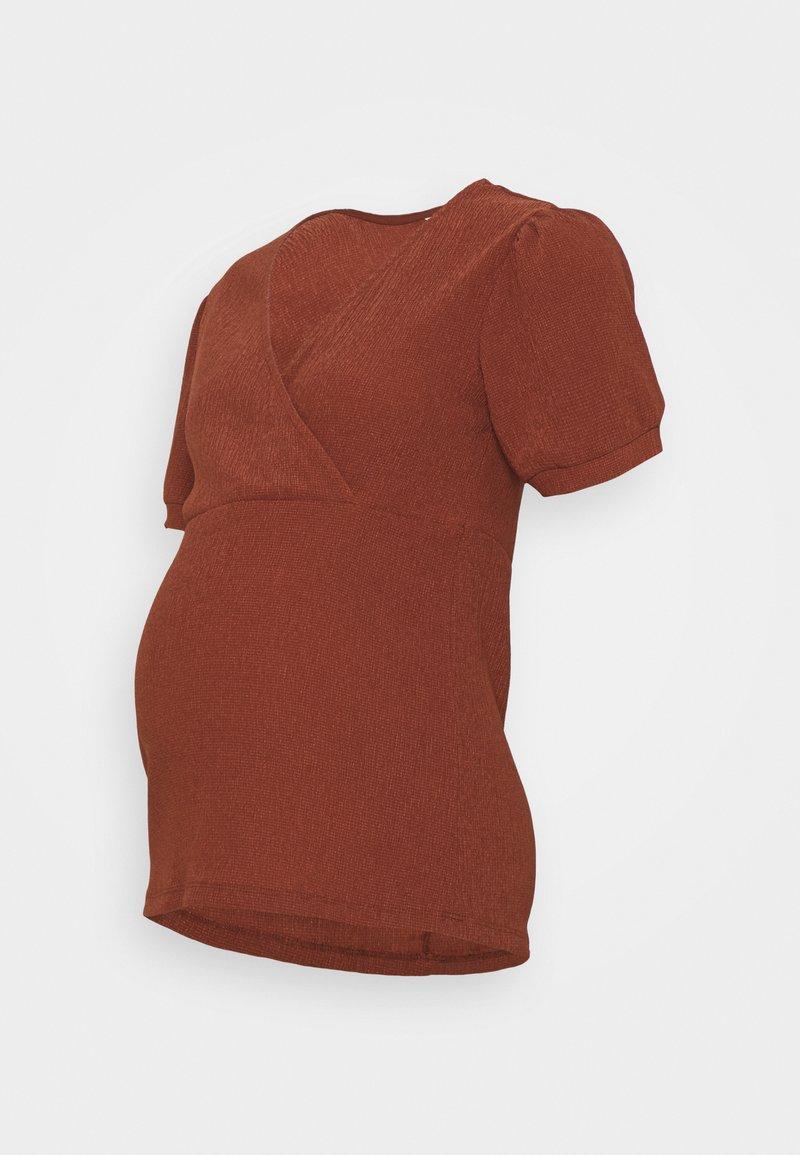 MAMALICIOUS - MLPAULA - Print T-shirt - burnt russet