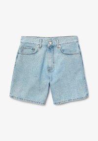 Lacoste - LACOSTE - BERMUDA FEMME - Short en jean - blue china - 5