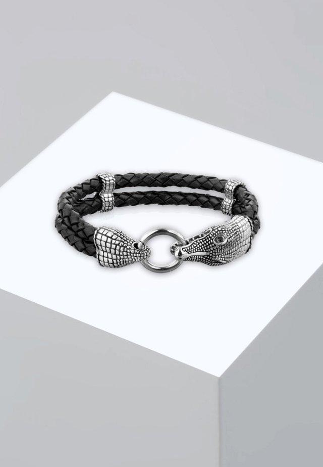 KROKODIL - Bracelet - silver-coloured
