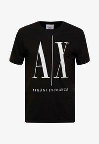 Armani Exchange - T-shirt imprimé - black - 3