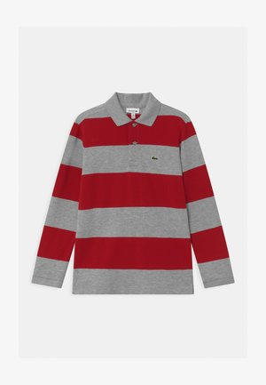 Polo shirt - silver/alizarin