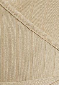 Missguided Petite - WRAP FRONT TIE WAIST CROP - T-shirt à manches longues - sand - 2