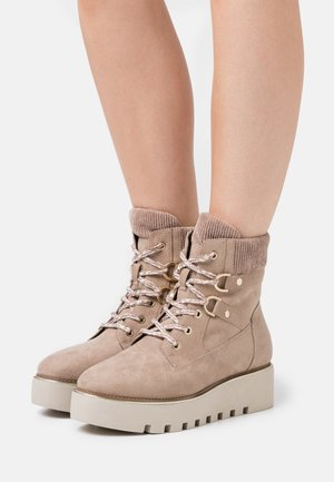 BOOTS - Wedge Ankle Boots - taupe