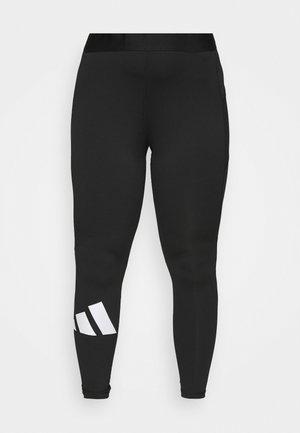 ADILIFE  - Leggings - black/white
