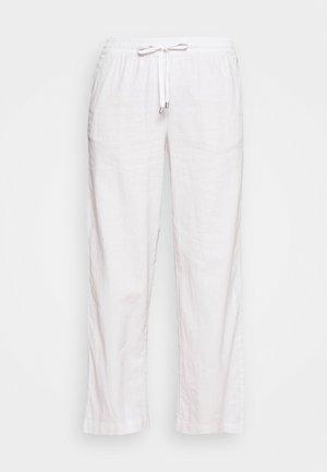 WIDE LEG - Stoffhose - white