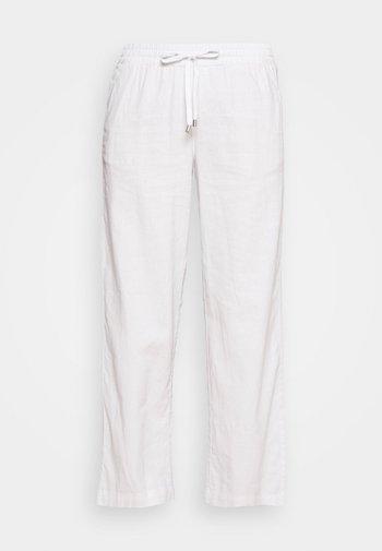 WIDE LEG - Kalhoty - white